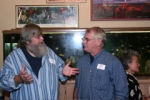 Joel Hannold, Gregg Behrens having a discussion about global warming