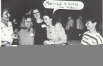 Marge (Caldwell) Zocchetti, Marge Klepp, Nancy (Bromilow) Saamer, (The caption reads 'Married 4 times, no kids', Colle