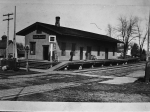 Old Aurora and Elgin train station downtown Glen Ellyn from the Lee Hesterman collection