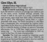 USA TODAY 10/25/01 '10 great places to watch a high school football game'